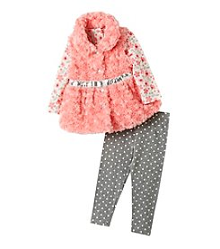 Nannette® Baby Girls' 3-Piece Sequin Belted Vest Set