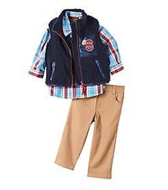 Nannette® Baby Boys 3-Piece Vest Set