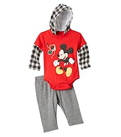 Nannette® Baby Boys' 2-Piece Mickey Layered Bodysuit and Pants Set