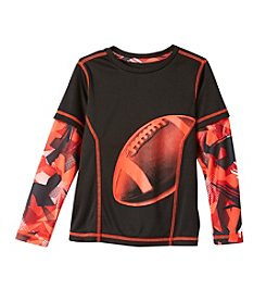 Exertek® Boys' 4-7 Long Sleeve Layered Football Graphic Tee