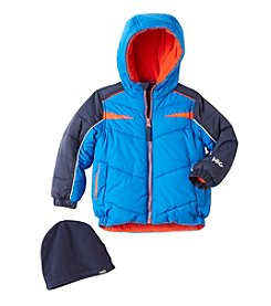 Hawke & Co. Boys' 2T-4T Puffer Jacket With Hat
