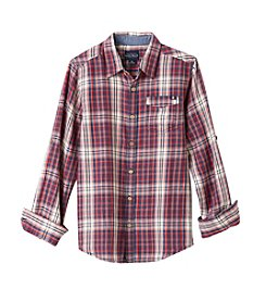 Lucky Brand® Boys' 8-20 Long Sleeve Plaid Button Down Shirt
