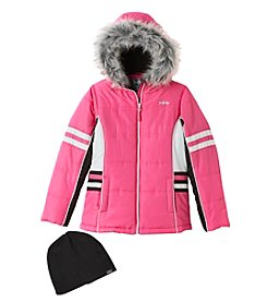 Hawke & Co. Girls' 7-16 Active Puffer Jacket With Hat