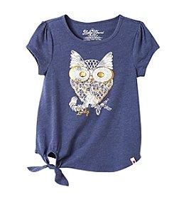 Lucky Brand® Girls' 7-16 Short Sleeve Sketchy Owl Tee