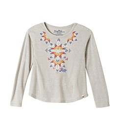 Lucky Brand® Girls' 4-16 Long Sleeve Printed Tee