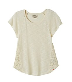 Lucky Brand® Girls' 4-16 Short Sleeve Crochet Lace Tee