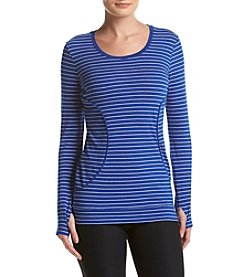 Marc New York Performance Stripe Banded Tunic Tee