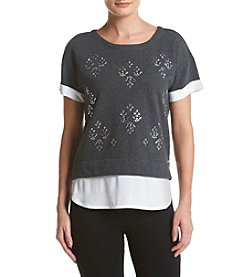 Marc New York Performance Embroidered Top