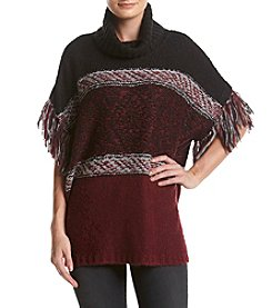 G.H. Bass & Co. Fringe Stripe Poncho