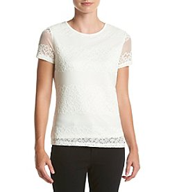 Calvin Klein Lace Knit Top