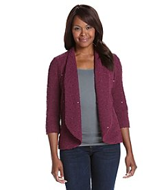 Alfred Dunner® Petites' Veneto Sequin Boucle Jacket