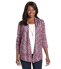 Alfred Dunner® Petites' Veneto Layered Look Spacedye Top