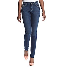 Earl Jean® Petites' Constrast Stitch Skinny Jeans