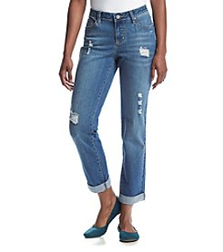 Earl Jean® Petites' Deconstructed Boyfriend Jeans