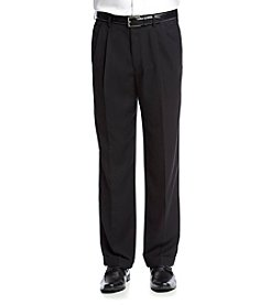 John Bartlett Statements Men's Black Classic Fit Suit Separates Pants