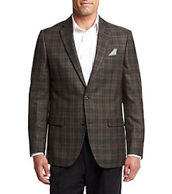 John Bartlett Statements Men's Brown Plaid Sportcoat