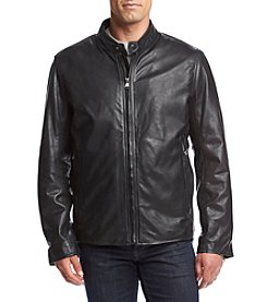 Andrew Marc® Men's Rhinecliff Leather Moto Jacket