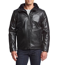 Andrew Marc® Men's Gilead Fur Lined Faux Leather Jacket