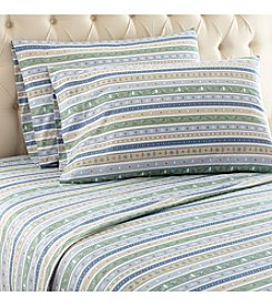 Shavel Home Products Micro Flannel® Calico Stripe Sheet Set