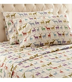 Shavel Home Products Micro Flannel® Colorful Deer Sheet Set