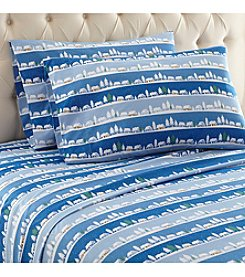 Shavel Home Products Micro Flannel® Winter Village Sheet Set