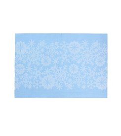 LivingQuarters Snowflake Textalene Placemat