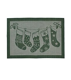 LivingQuarters Stocking Textalene Placemat