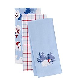 LivingQuarters Polar Bears Three-Pack Kitchen Towel Kit