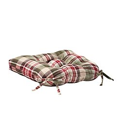 LivingQuarters Plaid Patterned Microfiber Chairpad