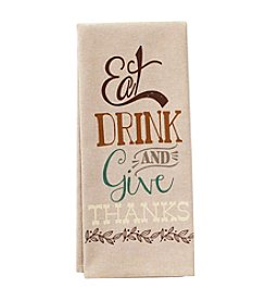 Ritz® Eat Drink Chambray Kitchen Towel