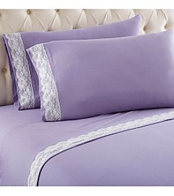 Shavel Home Products Micro Flannel® Lace Edged Sheet Set