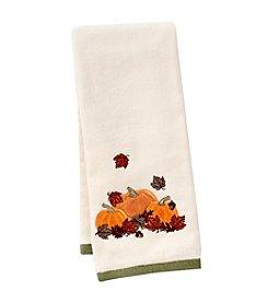 LivingQuarters Pumpkin Embossed Hand Towel