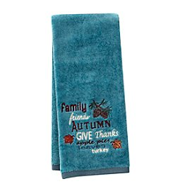 LivingQuarters Autumn Embossed Hand Towel