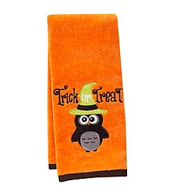 LivingQuarters Trick Or Treat Embossed Hand Towel