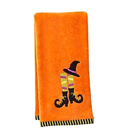 LivingQuarters Witch Legs Embossed Hand Towel