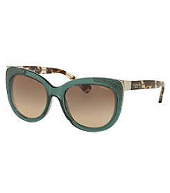 COACH SIGNATURE GLOW ACCENT SQUARE SUNGLASSES