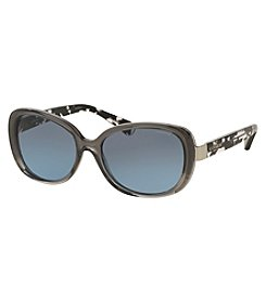 COACH SIGNATURE GLOW ACCENT RECTANGLE SUNGLASSES