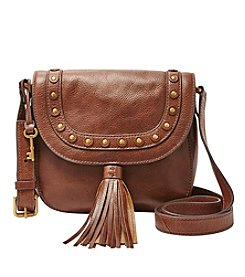 Fossil® Emi Studded Saddle Bag Crossbody