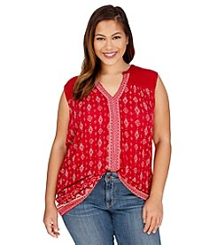 Lucky Brand® Plus Size Mixed Geo Print Tank
