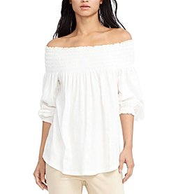 Lauren Ralph Lauren® Petites' Smocked Off-The-Shoulder Top