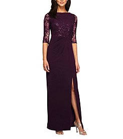 Alex Evenings® Long A-Line Column Dress