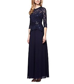 Alex Evenings® Lace Chiffon Dress