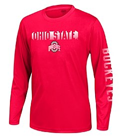 J. America® Boys' 8-20 NCAA® Ohio State University Callout Performance Long Sleeve Tee