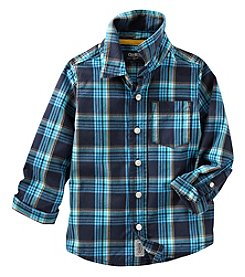 OshKosh B'Gosh® Boys' 2T-4T Long Sleeve Plaid Button Down Shirt