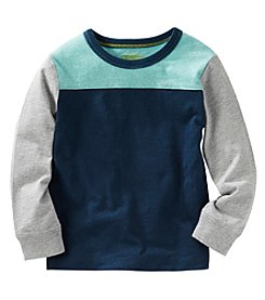 OshKosh B'Gosh® Boys' 2T-4T Long Sleeve Colorblock Tee