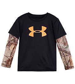 Under Armour® Boys' 4-7 Long Sleeve Layered Real Tree Tee