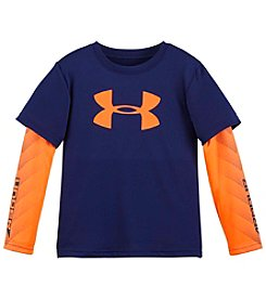 Under Armour® Boys' 2T-7 Long Sleeve Layered Logo Tee