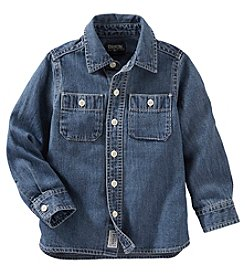 OshKosh B'Gosh® Boys' 2T-7 Long Sleeve Button Down Shirt