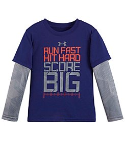 Under Armour® Boys' 2T-7 Long Sleeve Layered Run Fast Tee