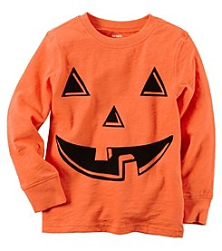Carter's® Boys' 2T-8 Long Sleeve Pumpkin Tee